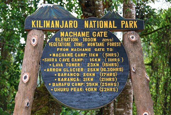 kilimanjaro machame gate